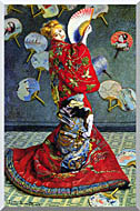 Claude Monet Madame Monet In Japanese Costume stretched canvas art
