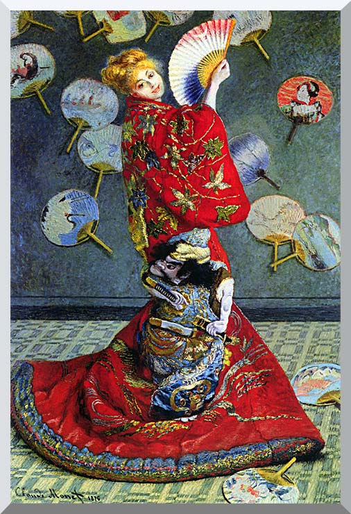 Claude Monet Madame Monet in Japanese Costume stretched canvas art print