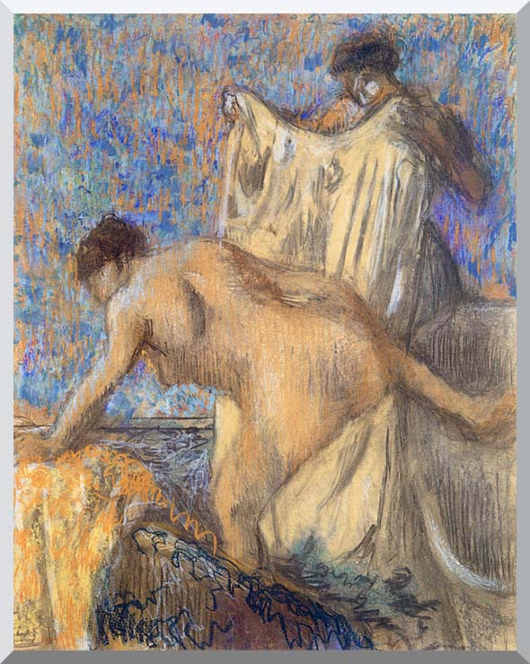 Edgar Degas After the Bath Pastel stretched canvas art print