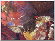 Edgar Degas At The Milliners Detail stretched canvas art