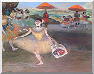 Edgar Degas Ballerina With A Bouquet Of Flowers stretched canvas art