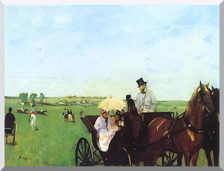 Edgar Degas Carriage at the Races stretched canvas art print
