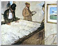 Edgar Degas Cotton Merchants stretched canvas art