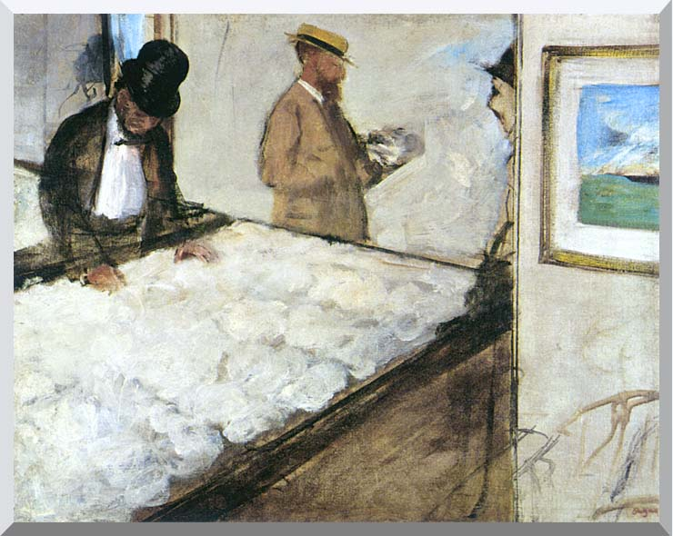 Edgar Degas Cotton Merchants stretched canvas art print