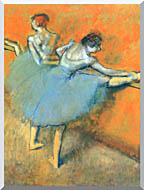 Edgar Degas Dancers At The Barre stretched canvas art