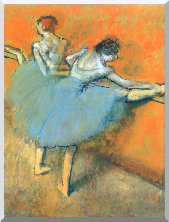Edgar Degas Dancers at the Barre stretched canvas art print