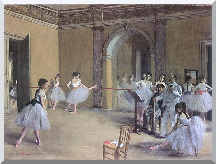 Edgar Degas Dance Foyer at the Opera in the rue Le Peletier stretched canvas art print