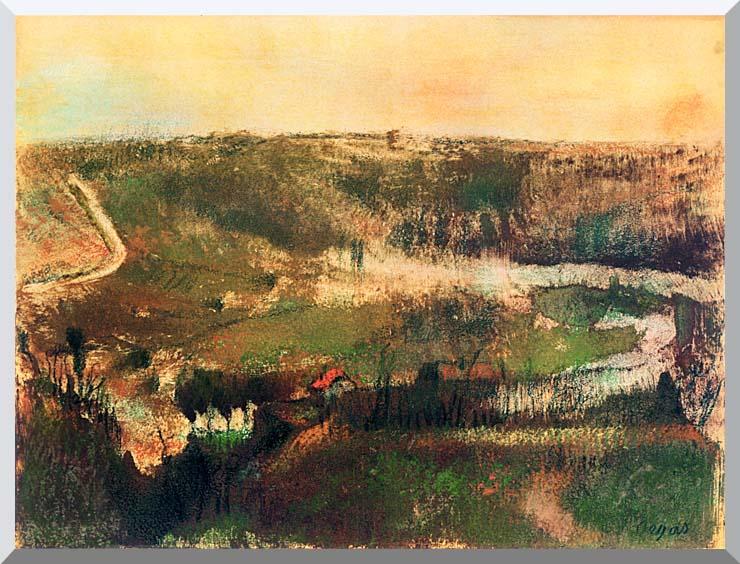 Edgar Degas Landscape stretched canvas art print