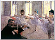Edgar Degas Rehearsal stretched canvas art