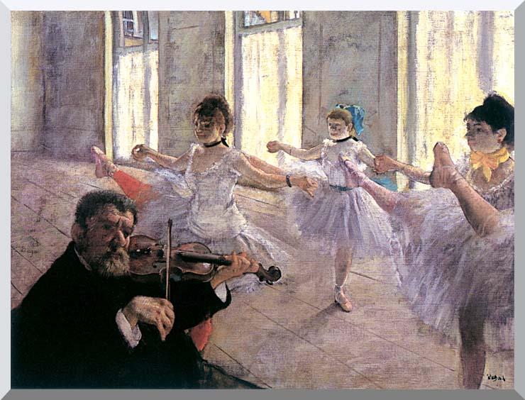 Edgar Degas Rehearsal stretched canvas art print