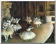 Edgar Degas Rehearsal Of A Ballet On Stage stretched canvas art