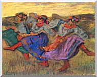 Edgar Degas Russian Dancers stretched canvas art