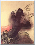 Edgar Degas Seated Woman Adjusting Her Hair stretched canvas art