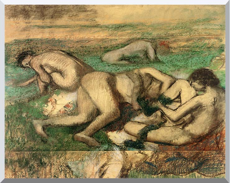 Edgar Degas The Bathers stretched canvas art print
