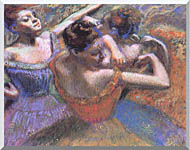 Edgar Degas The Dancers stretched canvas art