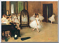 Edgar Degas The Dancing Class stretched canvas art