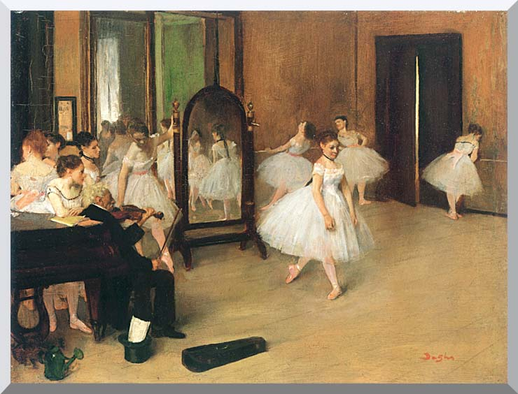Edgar Degas The Dancing Class stretched canvas art print