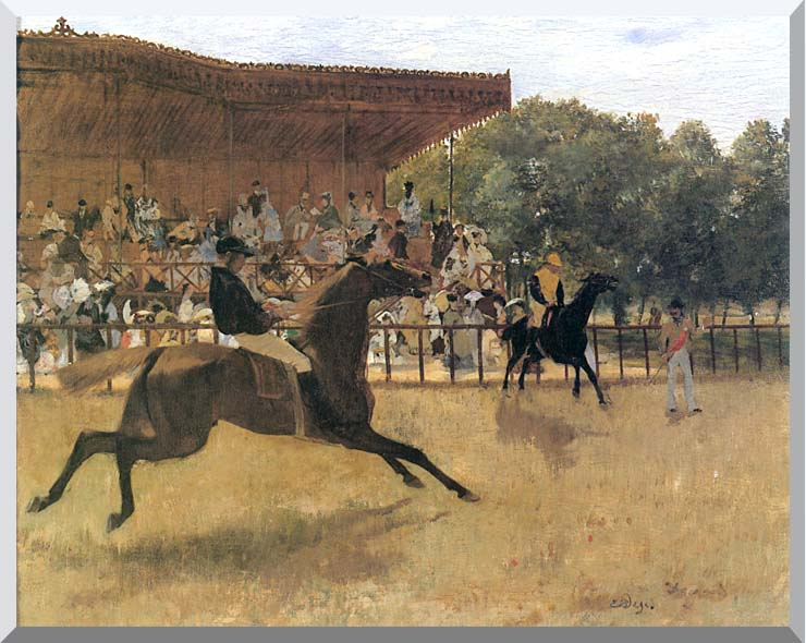 Edgar Degas The False Start stretched canvas art print