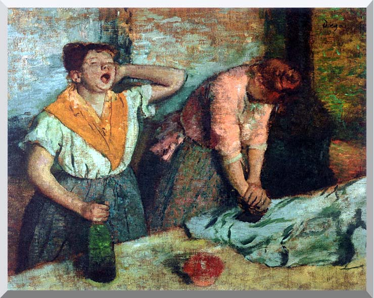 Edgar Degas The Laundresses stretched canvas art print