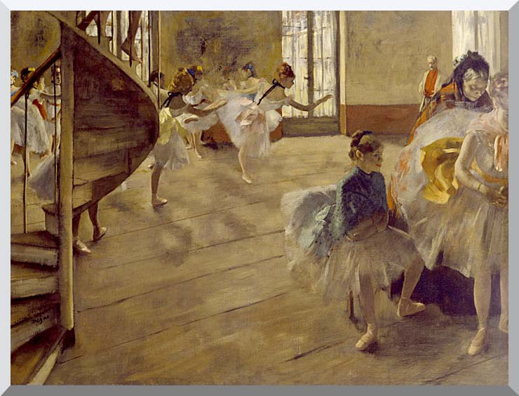 Edgar Degas The Rehearsal stretched canvas art print