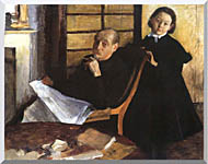 Edgar Degas Uncle And Niece stretched canvas art