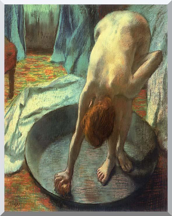 Edgar Degas The Tub (detail) stretched canvas art print