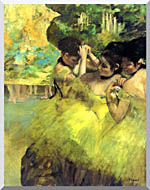 Edgar Degas Yellow Dancers In The Wings stretched canvas art
