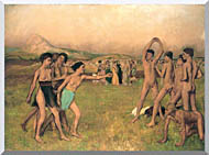 Edgar Degas Young Spartans Exercising stretched canvas art