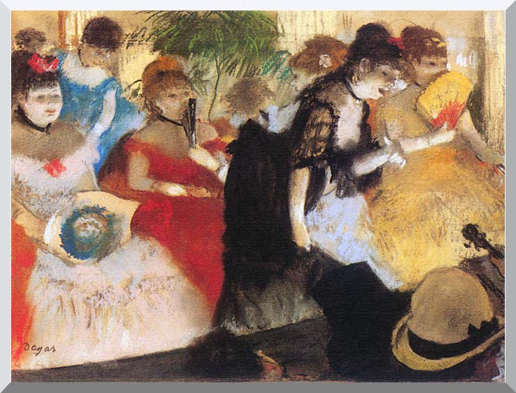 Edgar Degas Cafe Concert stretched canvas art print