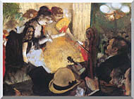 Edgar Degas Cafe Concert Right Detail stretched canvas art