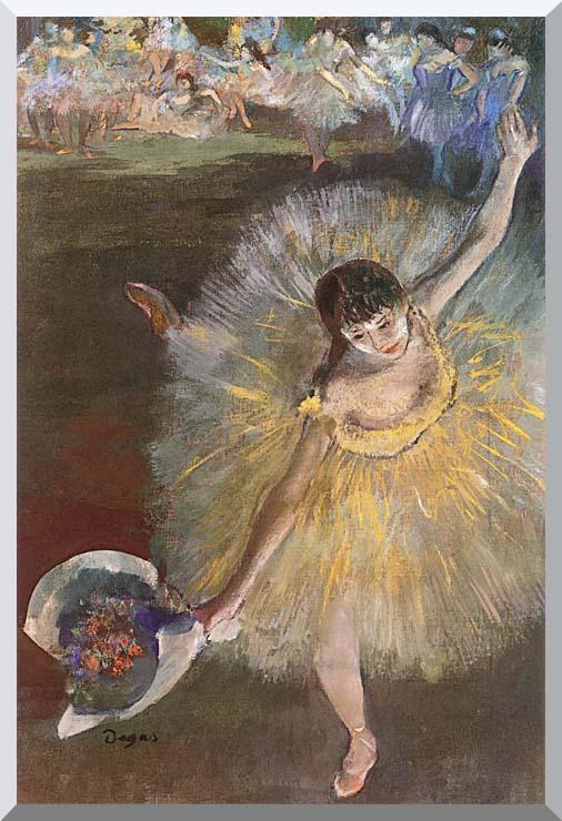 Edgar Degas Fin d'arabesque stretched canvas art print