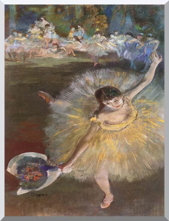 Edgar Degas Fin d'arabesque (detail) stretched canvas art print