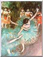 Edgar Degas The Green Dancer stretched canvas art