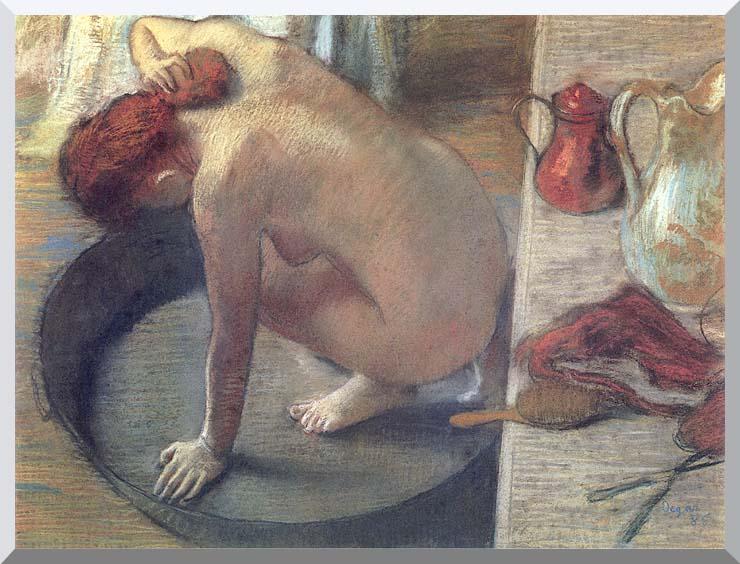 Edgar Degas Degas The Tub stretched canvas art print
