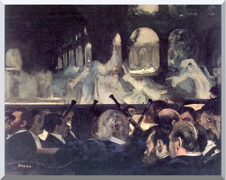 Edgar Degas Ballet Scene from 'Robert the Devil' stretched canvas art print
