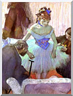 Edgar Degas Before The Entrance On Stage stretched canvas art