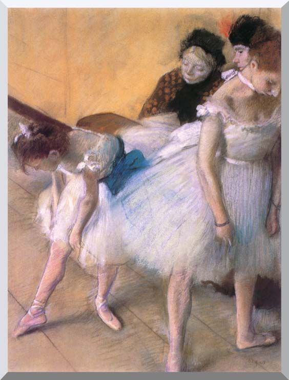 Edgar Degas Before The Rehearsal stretched canvas art print