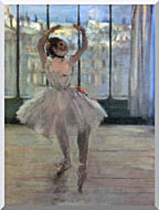 Edgar Degas Dancer Posing For A Photographer   Dancer Before A Window stretched canvas art