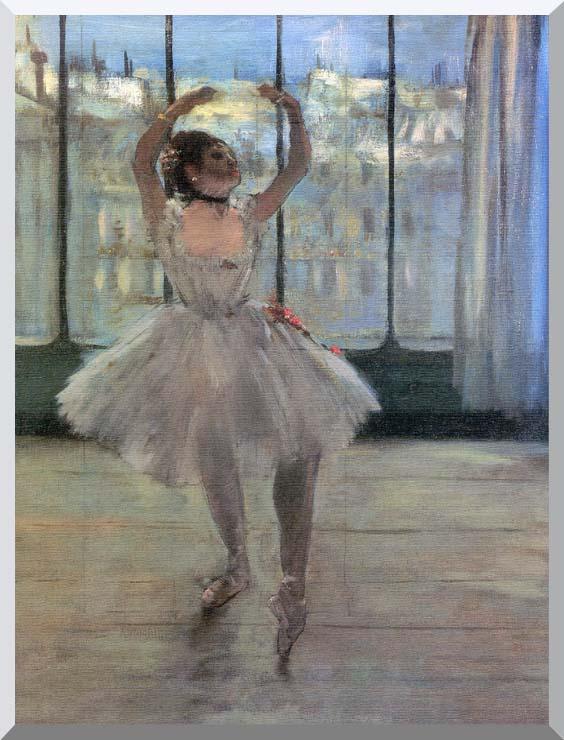 Edgar Degas Dancer Posing for a Photographer - Dancer before a Window stretched canvas art print