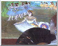 Edgar Degas Dancer With A Bouquet stretched canvas art