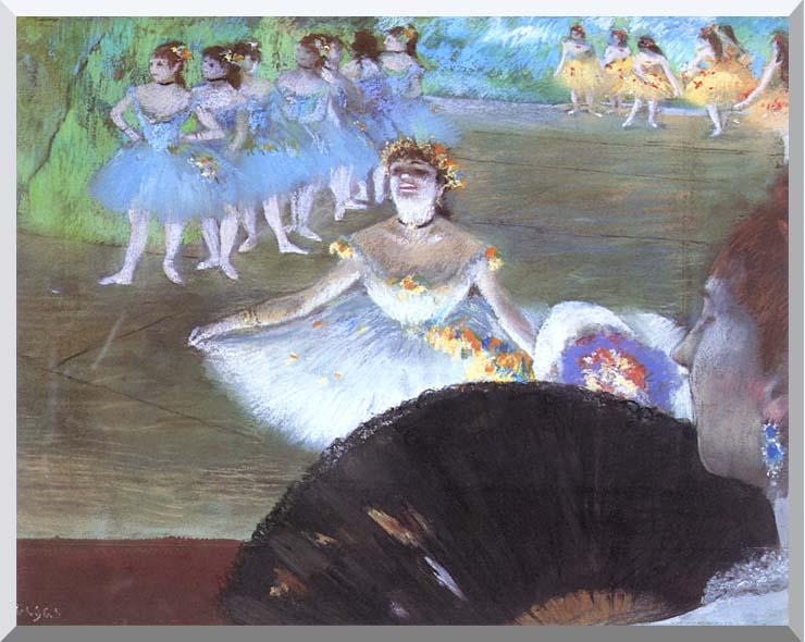 Edgar Degas Dancer with a Bouquet stretched canvas art print