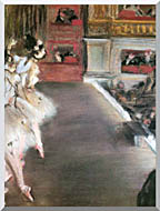 Edgar Degas Dancers At The Old Opera House stretched canvas art