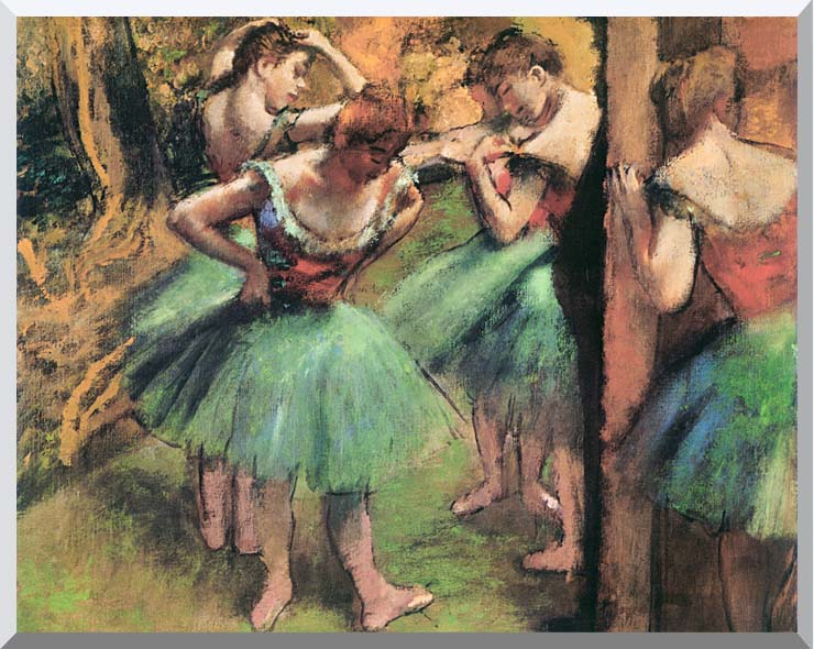 Edgar Degas Dancers, Pink and Green stretched canvas art print