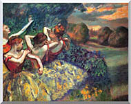 Edgar Degas Four Dancers stretched canvas art