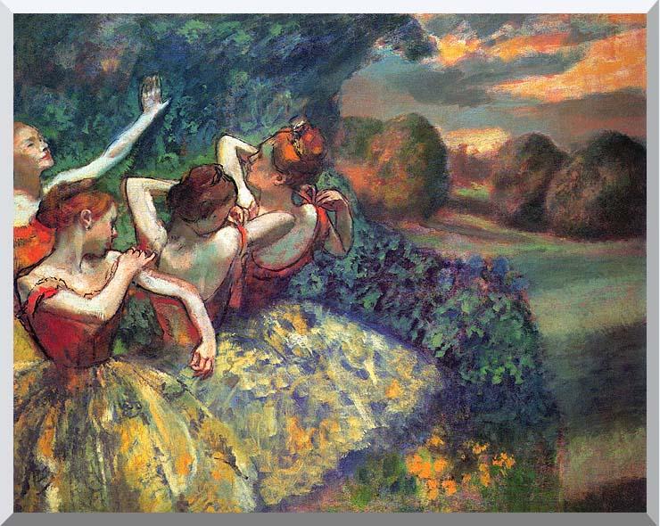 Edgar Degas Four Dancers stretched canvas art print
