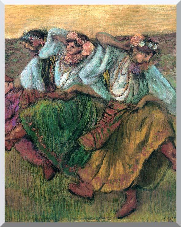 Edgar Degas Les Danseuses Russes stretched canvas art print