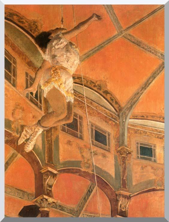 Edgar Degas Miss Lala at Cirque Fernando stretched canvas art print