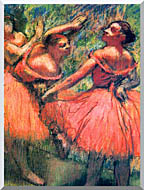 Edgar Degas Red Skirts stretched canvas art