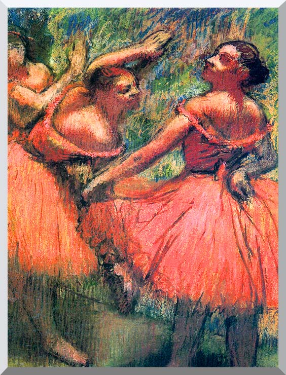 Edgar Degas Red Skirts stretched canvas art print