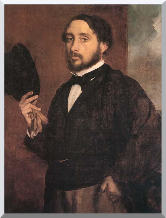 Edgar Degas Edgar Degas Self-Portrait stretched canvas art print